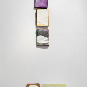 "Installation view, ""Stack Paintings"", Monte Vista, Highland Park, CA, 2012"